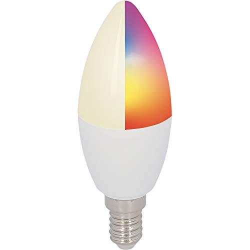 UNITEC WIFI Lampe E14 CCT RGB |dimmbar | WLAN Lampe|Farbwechsel Kalt-/Warm-/Neutralweiß |mit Timer und Zeitschaltuhr
