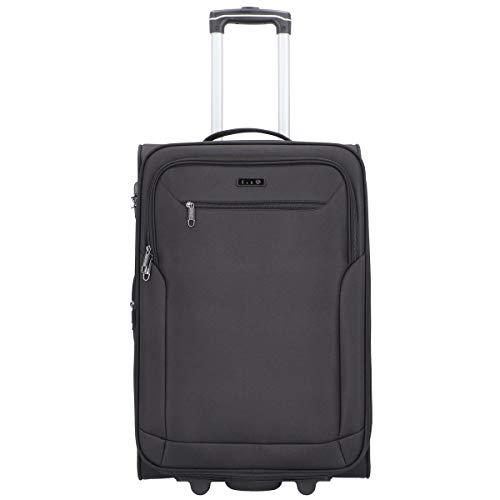 D&N Travel Line 6800 Koffer, 66 cm, 63L, Schwarz