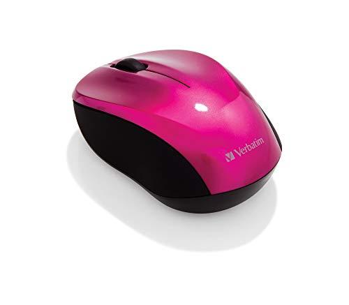 Verbatim GO NANO kabellose Maus - Optische Funkmaus für PC und Mac mit 2.4 GHz, 1600 dpi Auflösung, Nano-Receiver, pink