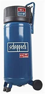 Scheppach Kompressor HC51V (97 dB, 50 L, 10 bar, insugning 220 l/min, tryckreducering, oljefri, 1 500 watt)