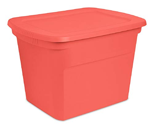 STERILITE 17316U08 Storage Tote, Fresh Melon, 18-Gallons - Quantity 8