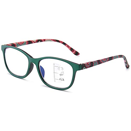 Gafas de Lectura Bloqueo de Luz Azul Retro Vintage Lectores de Computadora Progresivo Multifocus Antideslumbrante Lectores de Gafas Finas