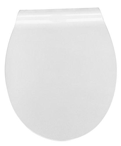 Eisl WC Sitz Slim WHITE Duroplast, Absenkautomatik und Schnellverschluss, Weiß, ED62WHITE