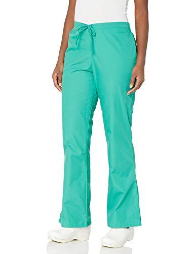 CHEROKEE Women's Flare Leg Drawstring Scrub Pant, Surgical Green, Small