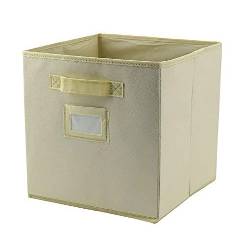 Aitaolian HOMEsn Caja De Almacenamiento De Caja De Almacenamiento Plegable De 2 Pack, Caja De Cajón De Pull-up No Tejida para Ropa, Juguetes, Ropa Interior, Camisas (Color : Beige)