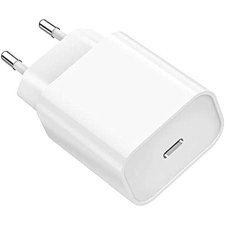 Chargeur Secteur Rapide 20W Compatible avec iPhone 13/13 Pro/13 Mini/13 Pro max/12/12 Mini/12 Pro/12 Pro Max /11/11 Pro/11 Pro Max/X/XS/XS Max/XR/SE 2020/8/8 Plus Phonillico®