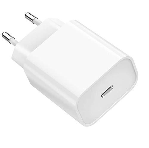 Chargeur Secteur Rapide 20W Compatible avec iPhone 12/12 Mini / 12 Pro / 12 Pro Max / 11/11 Pro / 11 Pro Max/X/XS/XS Max/XR/Se 2020/8 / 8 Plus Phonillico®