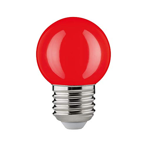 Paulmann 28528 LED Gota, 2W, E27, 230V, Rojo, Resistencia al impacto