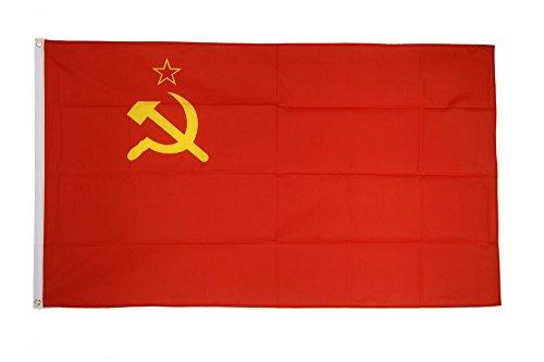 Fahne / Flagge UDSSR Sowjetunion + gratis Sticker, Flaggenfritze®