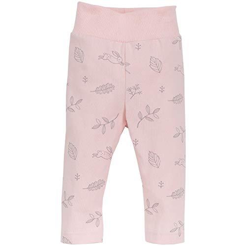 Pinokio - Colette - Baby Hose 100% Baumwolle, Hellrosa (Rosa) mit süßen Motiven - Jogginghose, Schlafhose, Leggins - elastischer Bund (74)