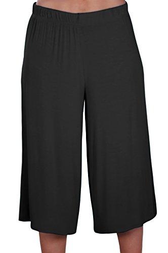 EyeCatch - Damen Breit Bein Moderne Hose Frauen Hosenrock Kurzschlüsse Hosen