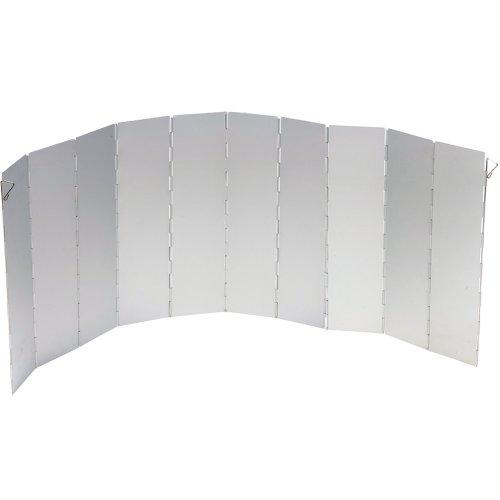 Siehe Beschreibung Campingkocher Windschutz, faltbar, Aluminium, 97x36 cm, Silber: Gaskocher Kocher Faltwindschutz Alu