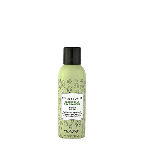 Alfaparf Milano Style Stories Texturizing Dry Shampoo - Quickly Cleans Hair - Adds Support, Texture and Volume - Pleasant Fragrance - Professional Salon Quality - 6.67 fl. oz.