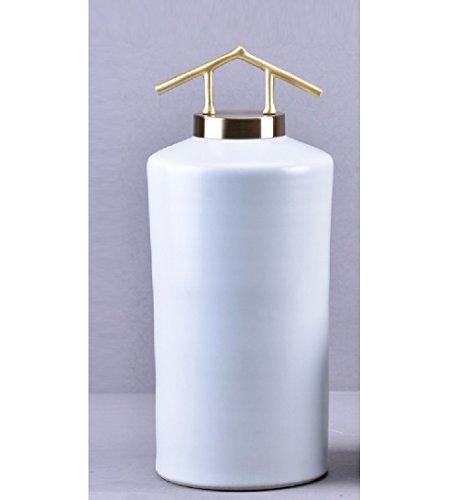 QARYYQ Vestibulaire Decoratieve Kast Wit Keramische Pot Eenvoudige Moderne Chinese Locker Zachte Ambachten