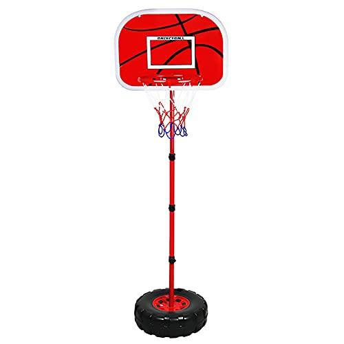 Canasta Tableros de Baloncesto Altura Ajustable Aro de Baloncesto para niños, Interior Exterior Juguetes de los niños Soporte de Baloncesto con Base Redonda, Gran Regalo
