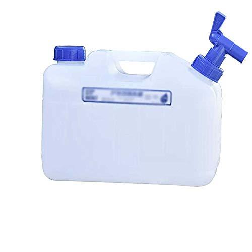 Gnohnay 10L Recipiente de Almacenamiento de Agua con Grifo y Asa, Cubo de Agua Potable, Jarra Portadora de Almacenamiento de Agua para Acampar, Senderismo, Escalada