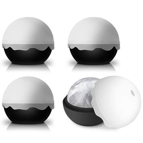 The Kitchen Gift Company® - Sfera rotonda XL per fare il ghiaccio XL, stampo in silicone per bevande multicoloured