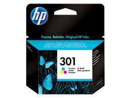 HP 301 - Cartuccia d'inchiostro originale HP 301, tricolore, per HP Deskjet, HP OfficeJet e HP Envy