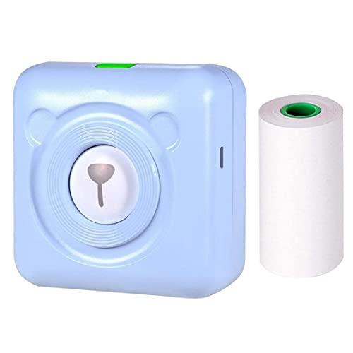 Impresora Mini Impresora térmica USB inalámbrico 203DPI Pocket Mobile Photogrape Fabricante Dispositivo Azul