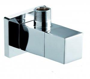 Design Eckventil quadratisch quadro eckig Messing verchromt von Ferro