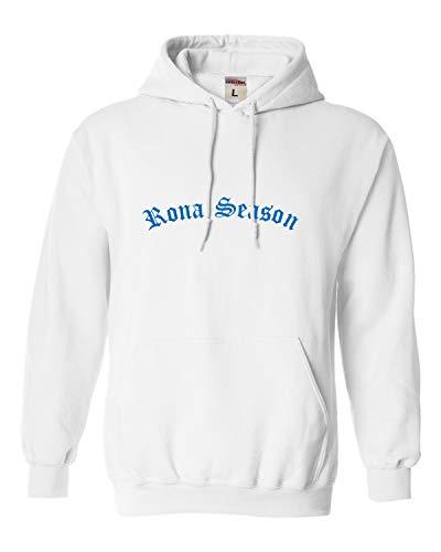 Go All Out Large White Adult Rona Season Sweatshirt Hoodie