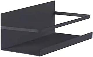 2 Pack Black Magnetic Spice Rack, Free Drill Strong Magnet Shelf Organizer for Refrigerator Oven Kitchen, Refrigerator Spi...