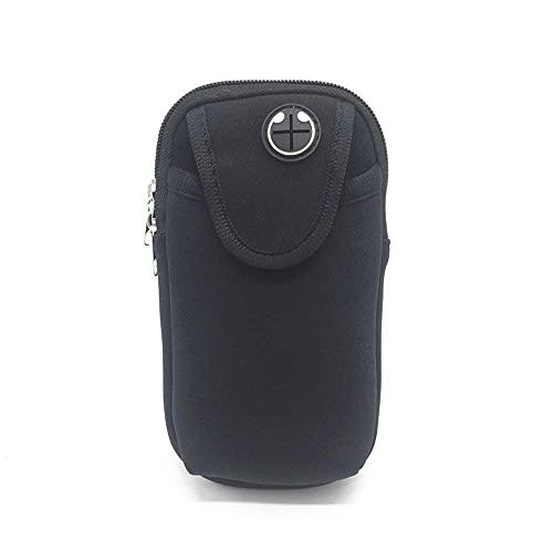 DealMux Universal Gym Workout Arm Bag Material de buceo Bolsillo para el brazo, pulsera para correr, pulsera multifuncional para deportes al aire libre, resistente al sudor, para correr, correr, entr