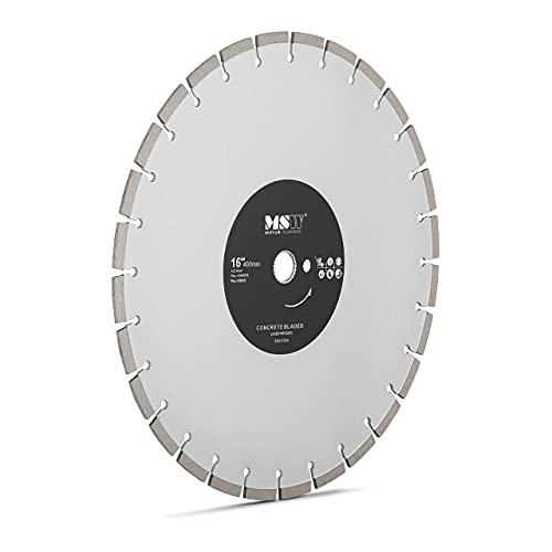 MSW Disco Diamantado para Sierra Circular Recambio MSW MSW-FSCB-400/25 (Diámetro del orificio central: 25,4 mm, Filo dividido en 28 segmentos, Diámetro: 400 mm)