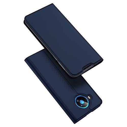 DUX DUCIS Hülle für Nokia 8.3, Leder Klappbar Handyhülle Schutzhülle Tasche Hülle mit [Kartenfach] [Standfunktion] [Magnetisch] für Nokia 8.3 (Blau)
