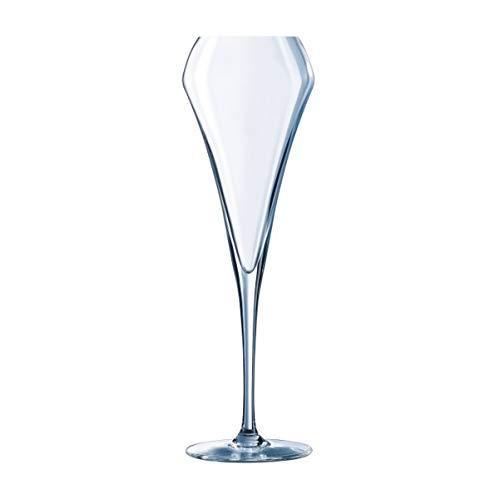 Visiodirect Lot de 24 Flûtes à Champagne Open'up en cristallin - 20 cl