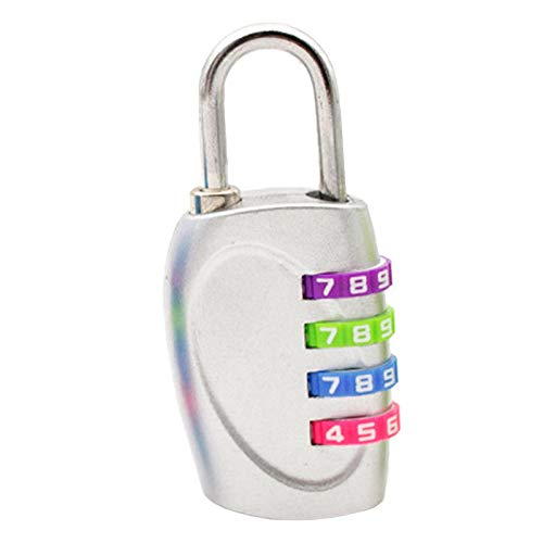Bicycle Lock 4 Digit Dial Combination Code Number Lock Padlock for Luggage Zipper Bag Backpack Handbag Suitcase Locks-SV
