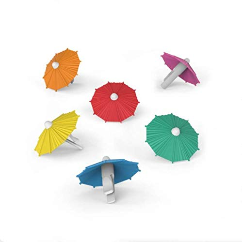 N/P AOLIAY Regenschirm, Weinglas-Marker, Regenschirm, Weinglas-Logo, Partyartikel, niedlicher Regenschirm, Weinglas-Clip, 18 Stück