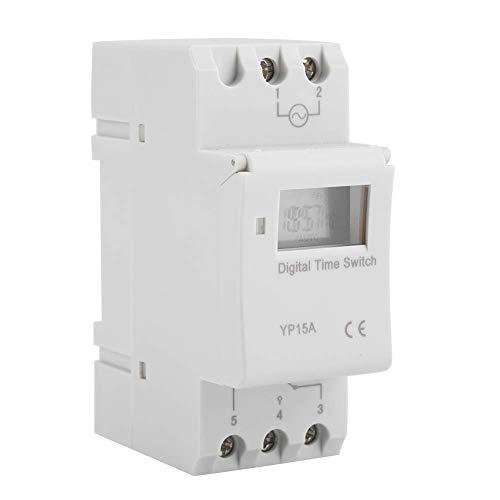 Conmutador programable 16A Río DIN con relé de temporizador programable LCD digital (AC220V)