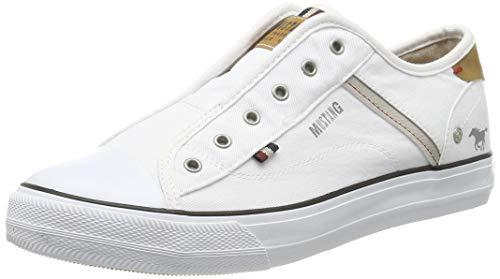 Mustang Damen 1272-401-1 Slip On Sneaker, Weiß (Weiß 1), 39 EU
