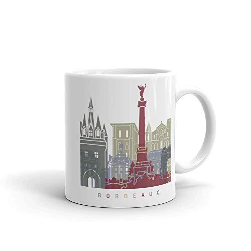 Taza de café de Burdeos Francia, ideal para regalos de la taza del hogar, taza de té, regalos del día de Acción de Gracias, regalo de Navidad, 11 onzas
