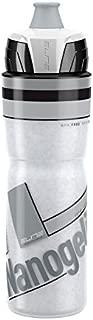 Elite Nanogelite Thermal Bicycle Water Bottle - 650 ml (White Grey Graphic)