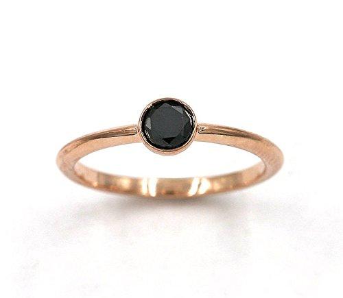 Black Diamond Solitaire Clous en or Rose Très Élégant 2.80 ct chacune!