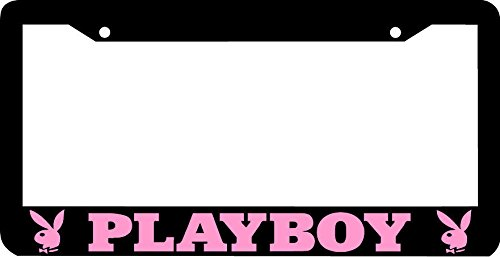 Personalized City Black Pink Playboy License Plate Frame