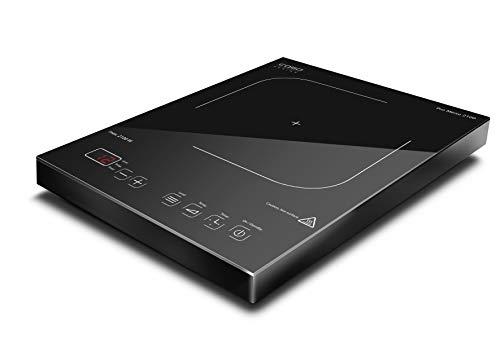 CASO PRO Menu 2100 Induktionskochplatte mobil, Smart Control auf 12 Stufen, 60-240°C, Timer bis 180 Min., Töpfe bis 24cm, 2100 Watt, Glaskeramik