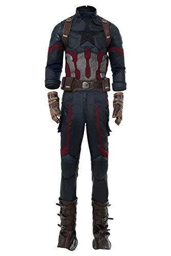RedJade Avengers 3 : Infinity War Captain America Steven Rogers Outfit Uniforme Suit Traje de Cosplay Disfraz personalización