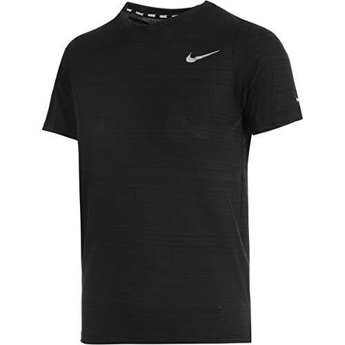 Nike B Nk Dri Fit Miler, T-Shirt Bambino, Nero, XL