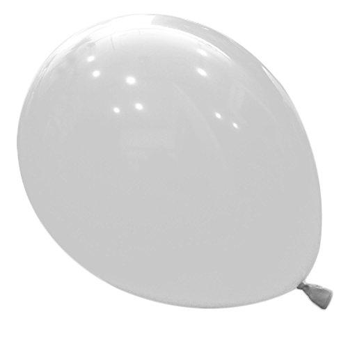logei® 100St Rund-Luftballons Luftballons Rundballons Ballons Deko für Valentinstag, Verlobung, Hochzeit, Weiß