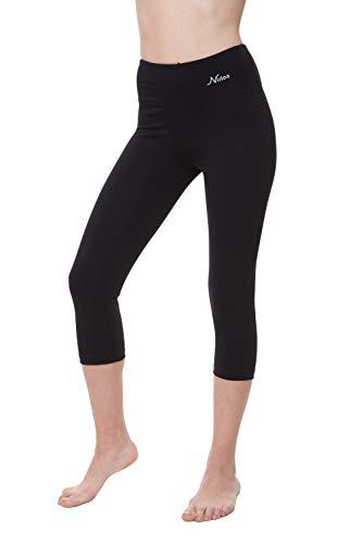 "NIRLON Capri Leggings for Women High Waist Workout Capri's Yoga Pants 3/4 Length Regular & Plus Size (2XL, Navy Blue 18"" Inseam)"