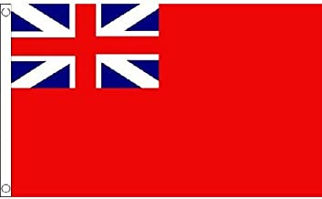 Naval Ensign Red Squadron Flag 5Ft X 3Ft Royal Navy Banner With 2 Eyelets New by Naval Ensign Red Squadron