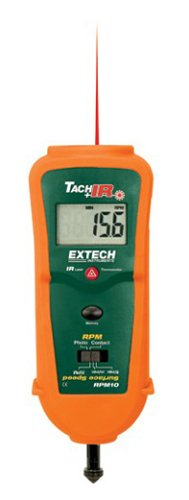 Extech RPM10 Combination Tachometer with Infrared Thermometer