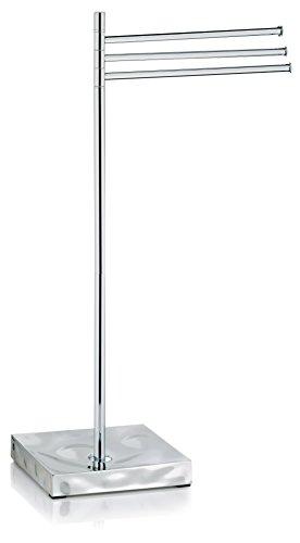 Kela 22431 Handtuchhalter, 3 Arme, Rostfrei, Verchromtes Metall/ Poly, 80 cm Höhe, Verbera