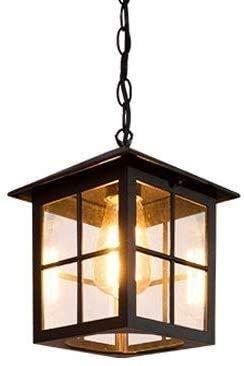 Wlnnes Retro ajustable Cadena de colgante Luces colgantes de techo industrial Vintage Aluminio Lámpara de vidrio Lámpara de chandeliers Patio Lámpara de jardín IP65 Impermeable Afile Sconence Linterna