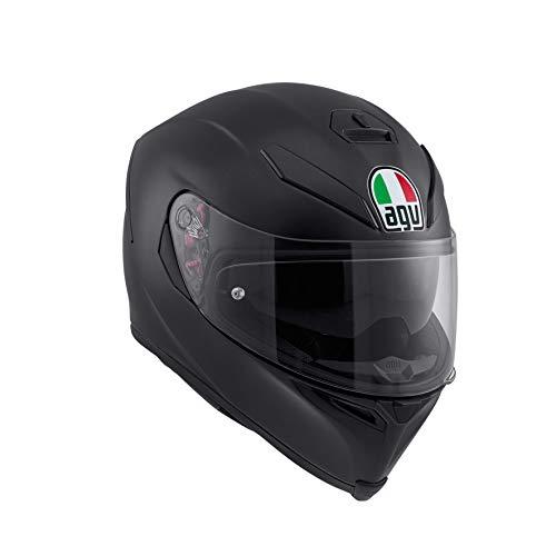 AGV K5 S Agv E2205 Solid Mplk Casco Moto, Unisex - Adulto, Nero Opaco, S