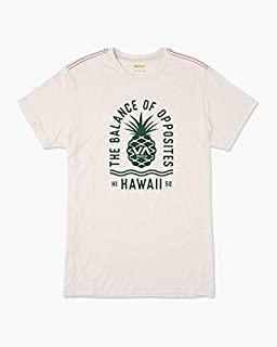 RVCA Men's Rising Pineapple Sleeve Crew Neck T-Shirt