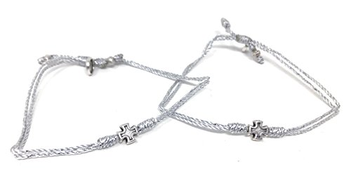 My Saint My Hero Together in Prayer - Prayer Partner Bracelets - Metallic Silver/Silver